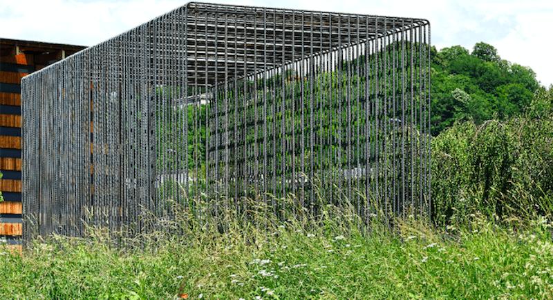 Lois Weinberger, Wild Cube, 2018, Acquisition Frac Franche-Comté, photo : Blaise Adilon © Studio Weinberger, courtesy : Salle Principale, Paris