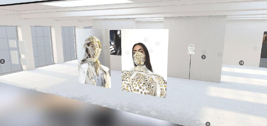 Pièces extraites du journal « Quarantaine vestimentaire » de Jeanne Vicerial, 2020 (capture d'écran de la galerie)