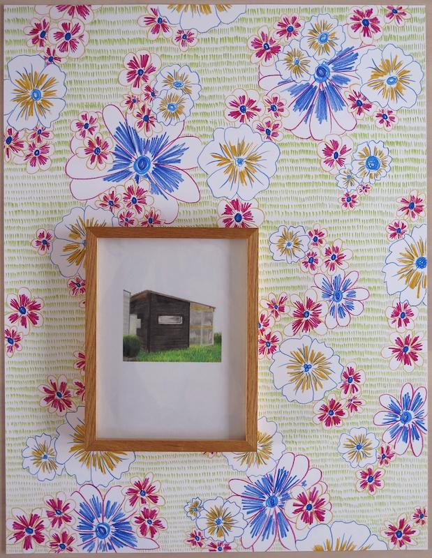 Marie-Amélie Porcher, 2020,  Maison de France – Dun-sur-Meuse, 65x50cm (cadre 24x18 cm)