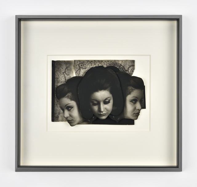 Pierre Molinier, Les Hanel 1 - Collage original 1969. Collage de tirages argentiques réhaussées au crayon, 21x29,7 cm. Courtesy Galerie Christophe Gaillard