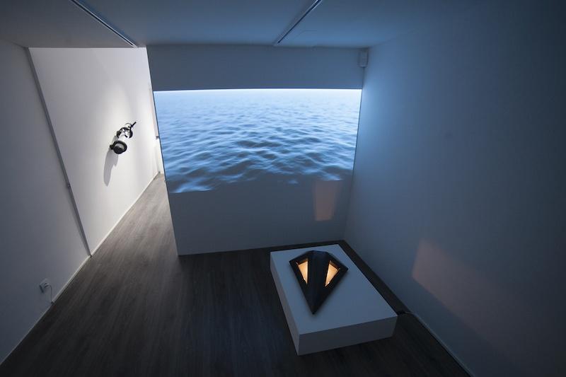 Vue de l'exposition Scopes de Vincent Pajot Mars 2020 Galerie Le Cabinet d'Ulysse Courtesy Vincent Pajot et Galerie Le Cabinet d'Ulysse