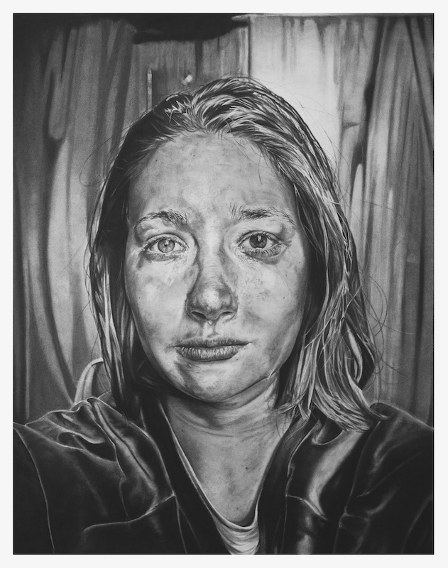Anaïs Prouzet, Et puis, plus rien, 2019. Fusain sur papier, 81cm x 64cm