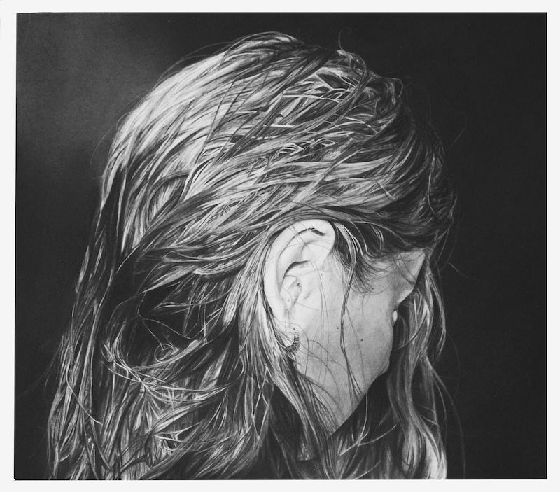 Anaïs Prouzet, sans titre I, 2018. Fusain sur papier, 54,5cm x 62,5 cm