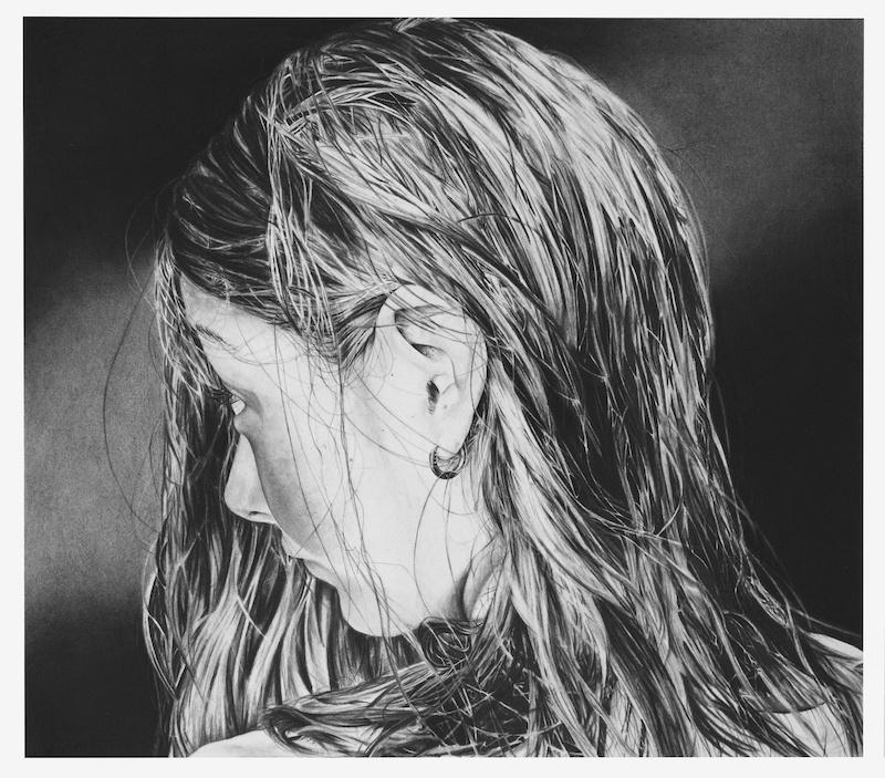 Anaïs Prouzet, sans titre II 2019. Fusain sur papier, 54,5cm x 62,5 cm