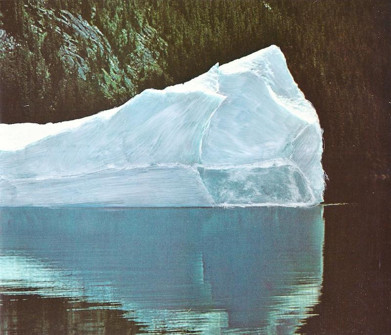 Aurélien Mauplot, Les impatiences (série des glaces) Dimensions variables Acrylique sur photographie d'archive 2017