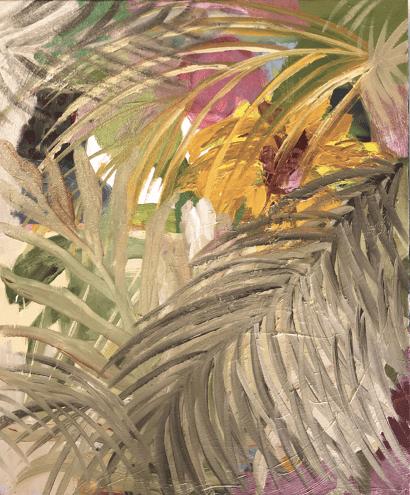 Duda Moraes, Série Tropical 5. Huile sur toile 38 x 46 cm