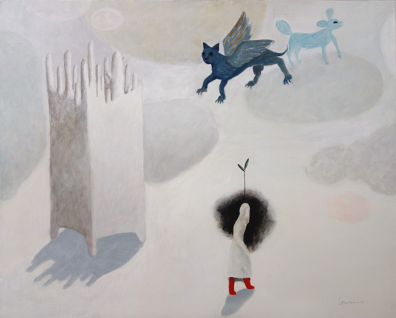 Hélène Loussier, Bottes et dragons, 2017. 65 x 81 cm. Courtesy Hélène Loussier