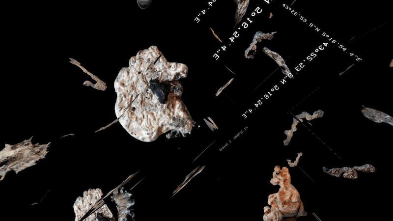 Juliette Feck, Essences Constellationistes (Détail), 2019, installation VR