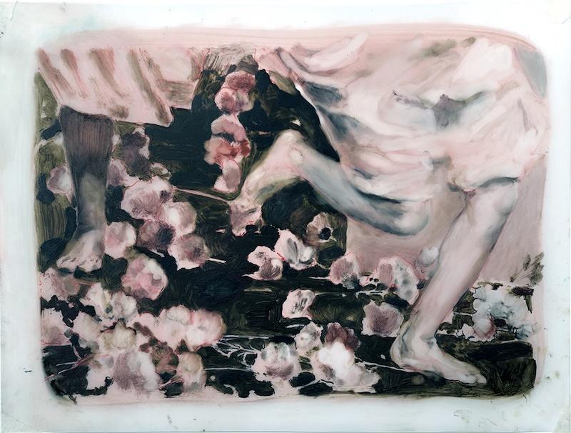 Sarah Jérôme, Fugue, 2018. Technique mixte sur papier calque, 25,5 x 33,5 cm