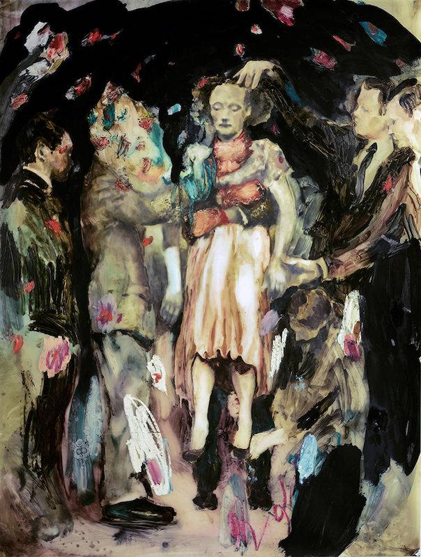 Sarah Jérôme, Solace, 2018. Technique mixte sur papier calque, 180 x 137,5 cm
