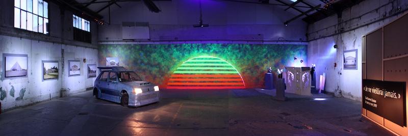 Tony Regazzoni, Je sors ce soir, 2019 Vue de l'exposition  Glassbox Montpellier - Halle Tropisme, Montpellier © Tony Regazzoni - ADAGP, 2019