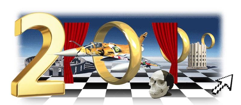 Tony Regazzoni,The Lost Opera (Mirage 2000), 2017 Impression sur bâche PVC  640 x 300 cm Œuvre produite par CAC Brétigny et Théâtre Brétigny © Tony Regazzoni - ADAGP, 2017