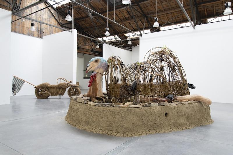 Aurélie Ferruel et Florentine Guédon, vue d'exposition La suée du dindon, 2020, Le 19, Crac