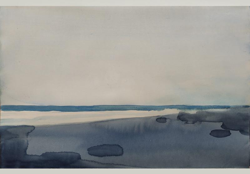 "Marcelo Fuentes ""Mar 22"". Aquarelle 35,5 cm x 54,5 cm. courtesy galerie Camera Obscura"