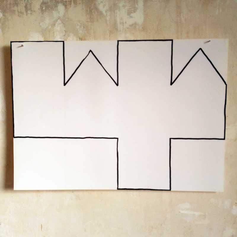 Pascal Brateau, MUE 1 : étude pour une sculpture, encre sur papier, 2020
