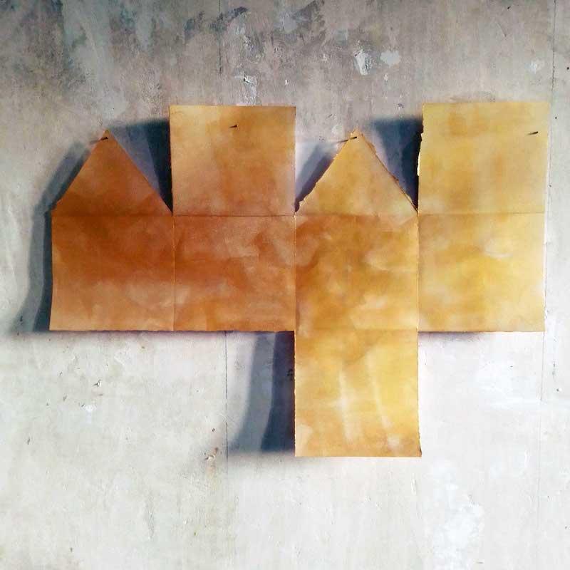 Pascal Brateau, MUE 2 : étude pour une sculpture, acrylique sur papier plié découpé, 2020
