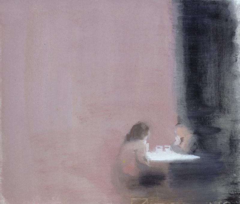 """Rosa Artero, """"Interior N° 29"""". Huile 21,3 cm x 23,3 cm. courtesy galerie Camera Obscura"""