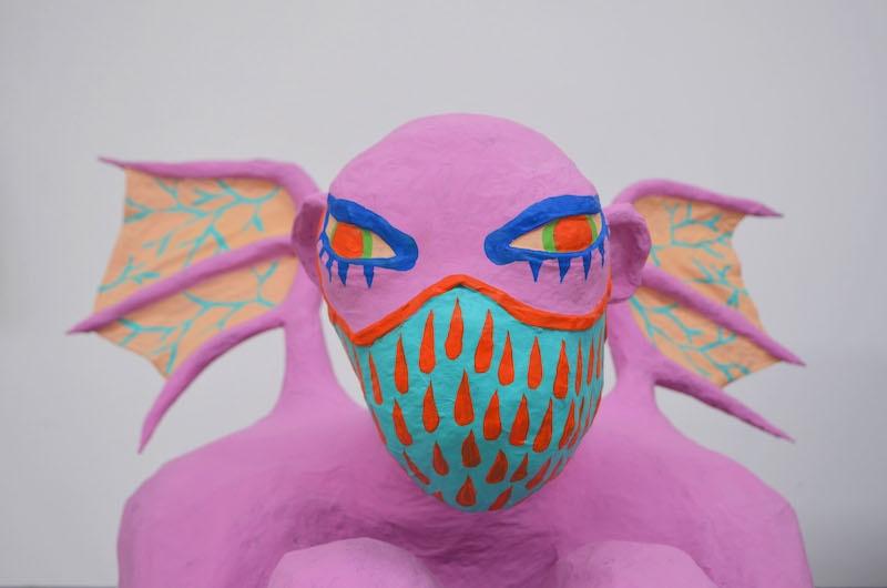 Caroline Dargère, sculpture-2, 2020. Papier maché - Résidence #64 - Usine Utopik - ©Usine Utopik