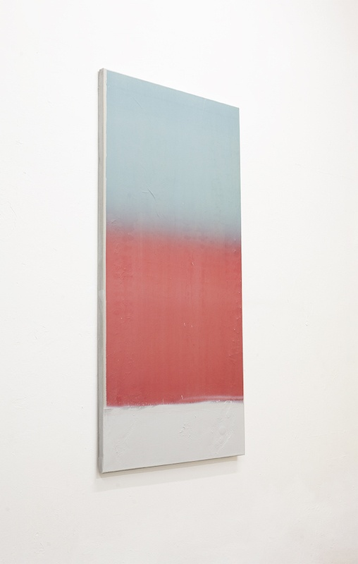 Sans titre 36, 2020. Collage papier, peinture en spray et acrylique sur toile 120 x 60 cm © Terencio González, Courtesy Galerie Jérôme Pauchant