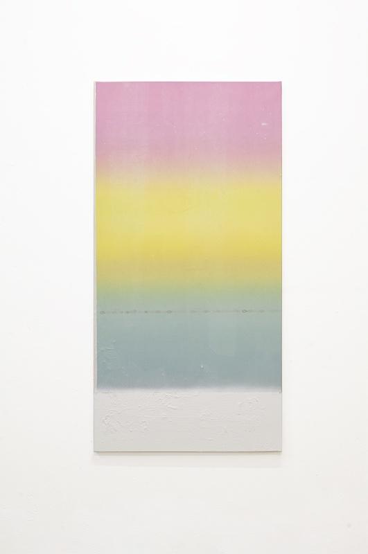 Sans titre 37, 2020. Collage papier, peinture en spray et acrylique sur toile 120 x 60 cm © Terencio González, Courtesy Galerie Jérôme Pauchant