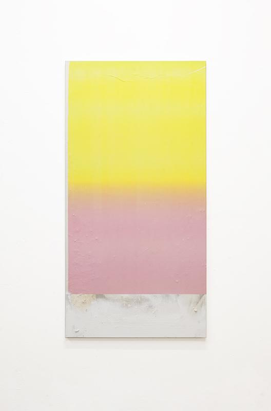 Sans titre 38, 2020. Collage papier, peinture en spray et acrylique sur toile 120 x 60 cm © Terencio González, Courtesy Galerie Jérôme Pauchant