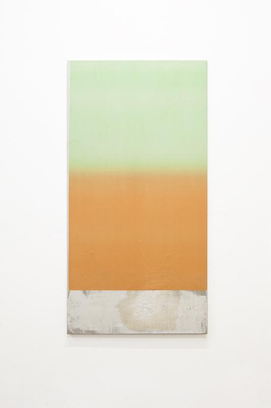 Sans titre 39, 2020. Collage papier, peinture en spray et acrylique sur toile 120 x 60 cm © Terencio González, Courtesy Galerie Jérôme Pauchant