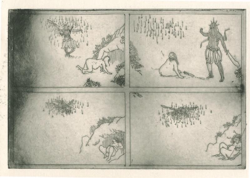 Frédéric Coché, Brünnhilde, planche n° 30, 1/5, 27 x 38 cm