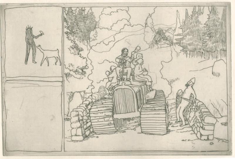 Frédéric Coché, Brünnhilde, planche n° 51, 1/5, 27 x 38 cm