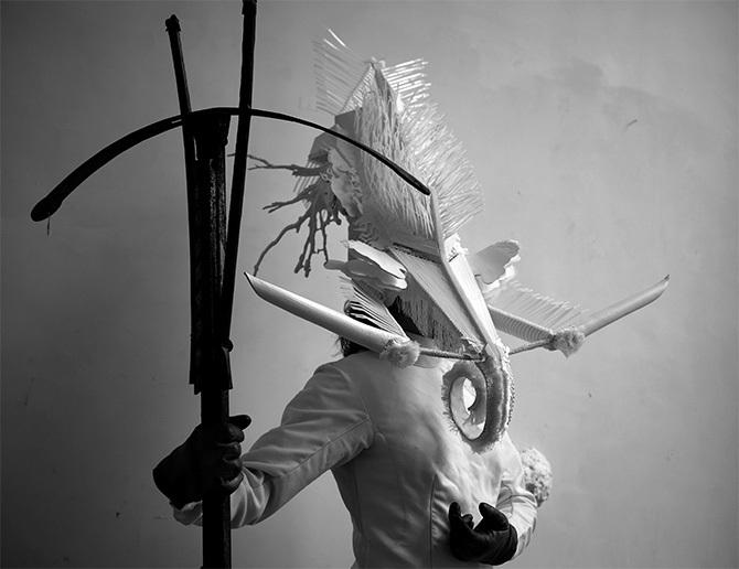 Marie-Luce Nadal, Masque de la divinité de la brume, photographie
