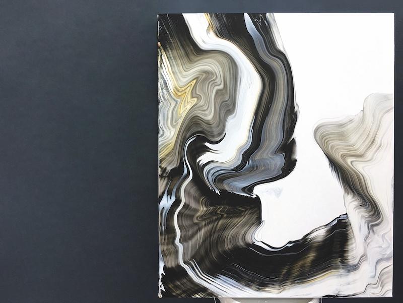 Silvère Jarrosson, Figure 43, 2019. Acrylique et élastomère sur toile de lin, 73 x 60 cm. Courtesy et photo artiste