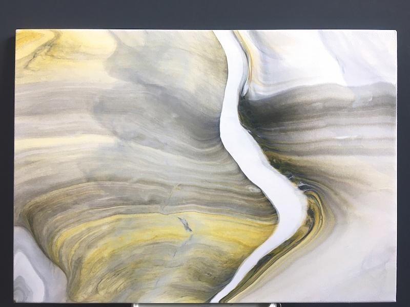 Silvère Jarrosson, Impression 7, 2019. Acrylique et élastomère sur toile de lin, 70 x 50 cm. Courtesy et photo artiste