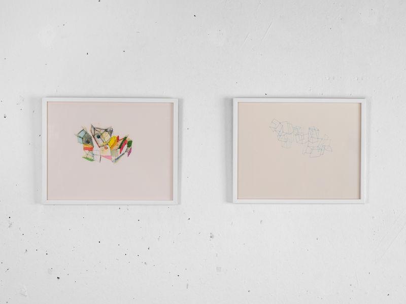 Mengzhi Zheng, Plissements, 2018, color on paper, 24 x 32 cm © Julien Gremaud