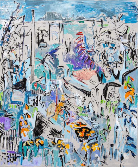 Michaële-Andréa Schatt Dj's Garden, 2020 Techniques mixtes sur toile 180 x 150 cm