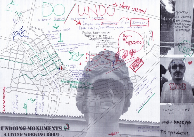 Jenny Marketou Undoing Monuments ,Drawing on Paper