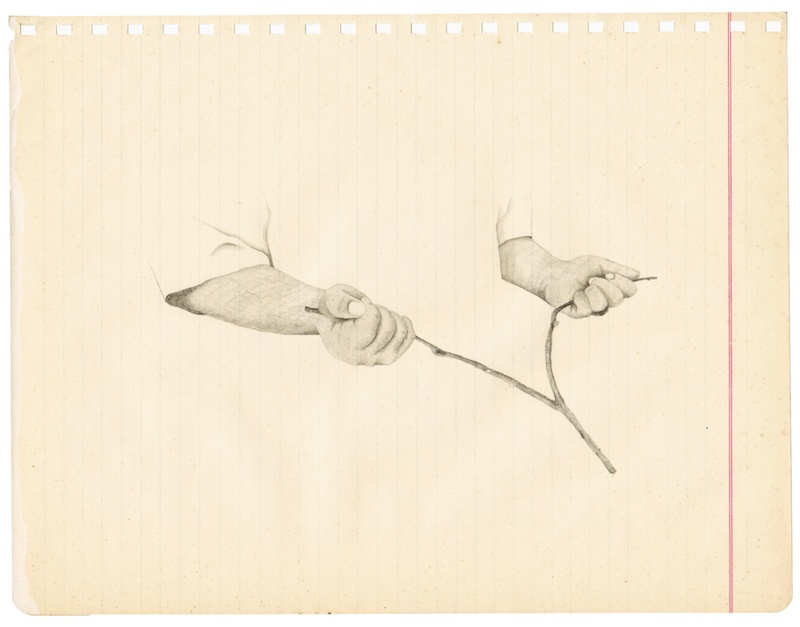 The dowser's hands I, Geoffrey Badel, dessin, crayon, 21,5 x 27,5 cm, 2019.jpg