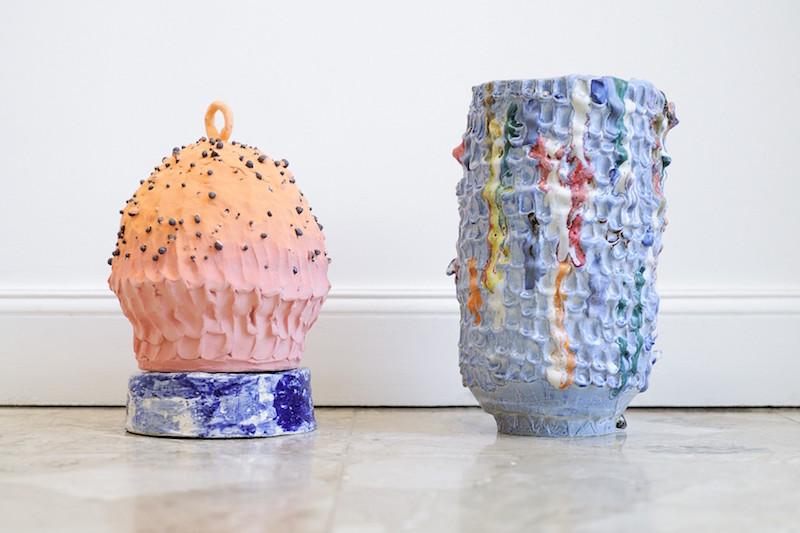 vue d'exposition rv à l'air libre de Pernille Pontoppidan Pedersen jusqu'au 28 novembre 2020, Galerie Maria Lund Paris