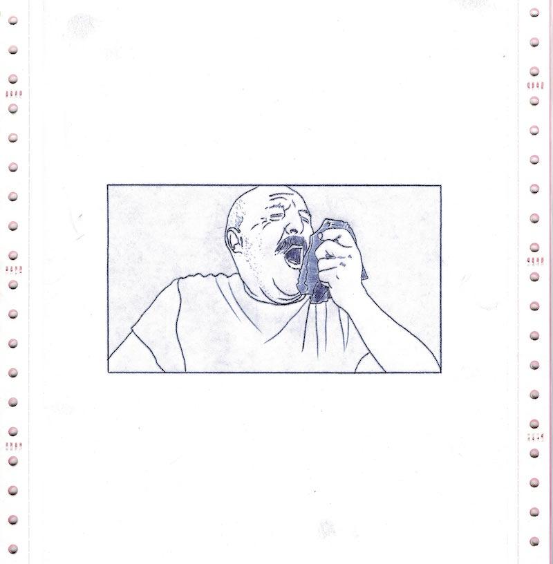 Les Chroniques du Réel, Jour 38, dessin 03, version numérique - scan de l'original, Saison II/Phase1, 2020. © Charlie Chine