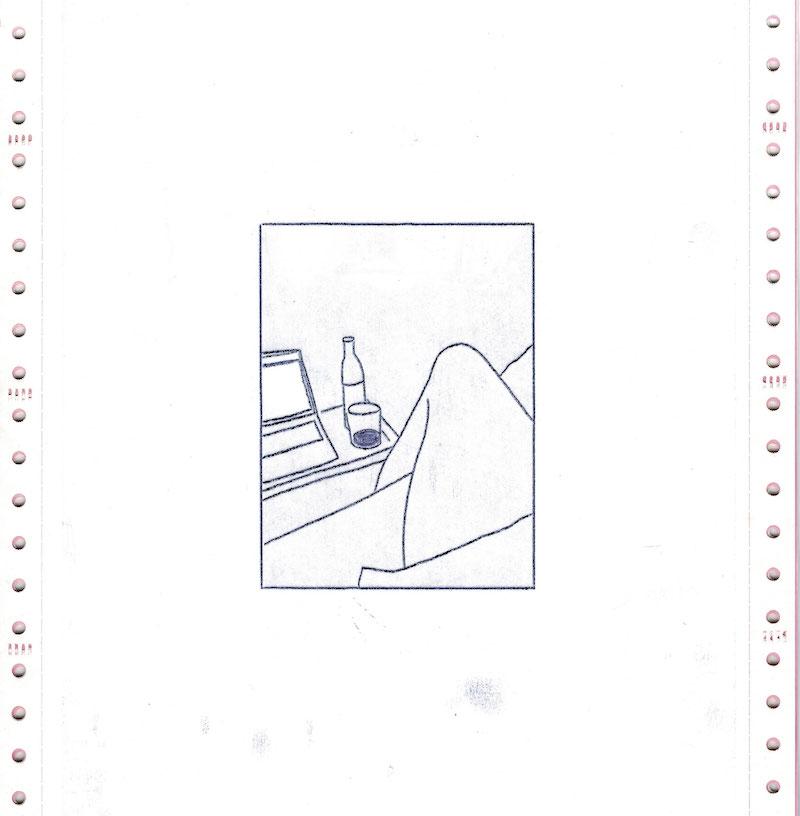 Les Chroniques du Réel, Jour 18, dessin 01, version numérique - scan de l'original, Saison II/Phase1, 2020. © Charlie Chine