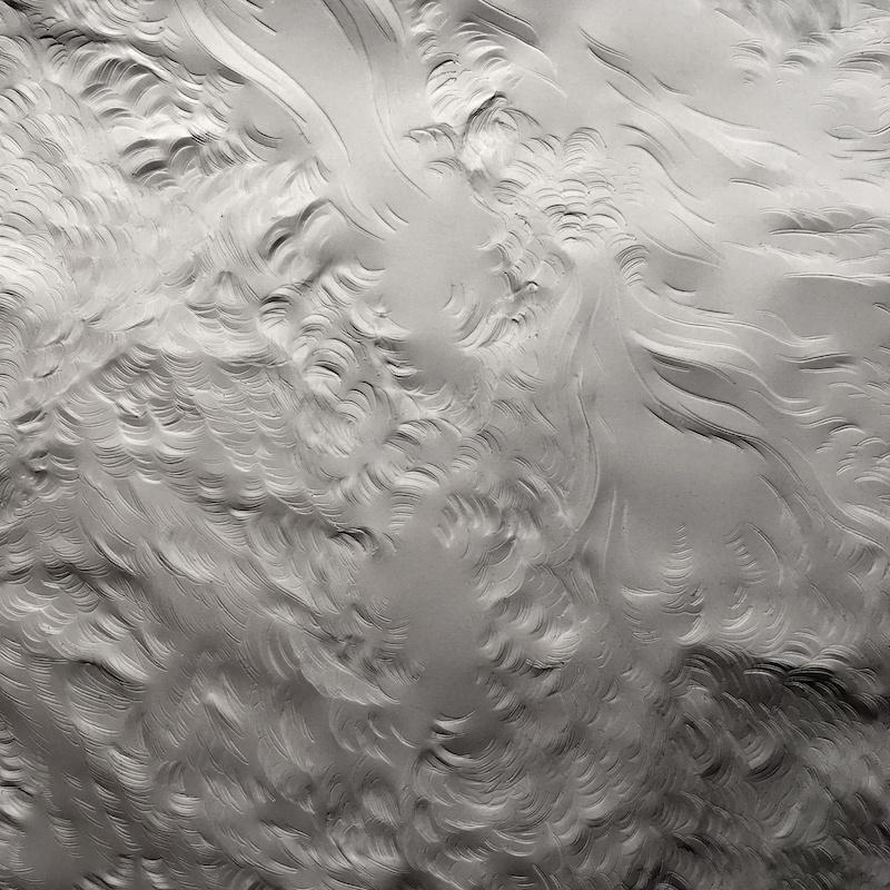 Didier Legaré- Gravel, In girum... #3, 2018 (détail). Papier minéral gravé, 13 x 27 cm