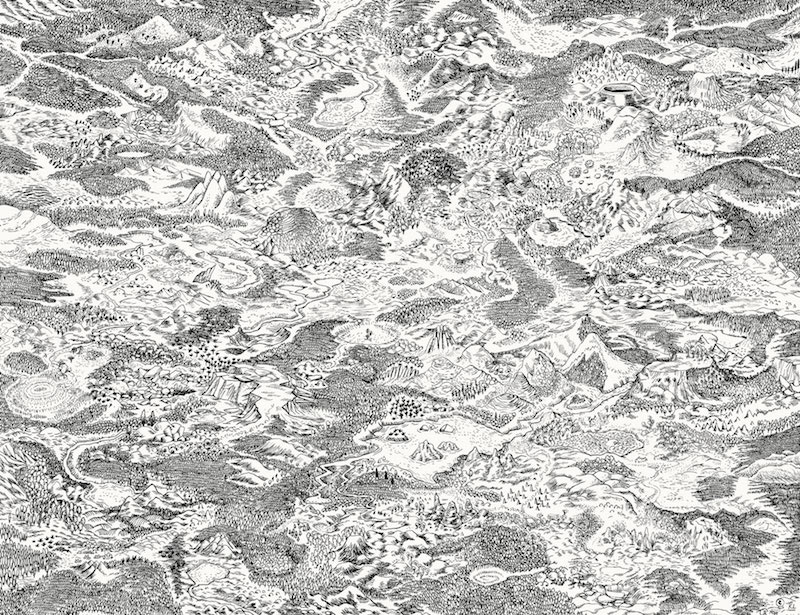Collectif Ensaders, Le domaine encre sur papier, 50 x 65 cm, 2018