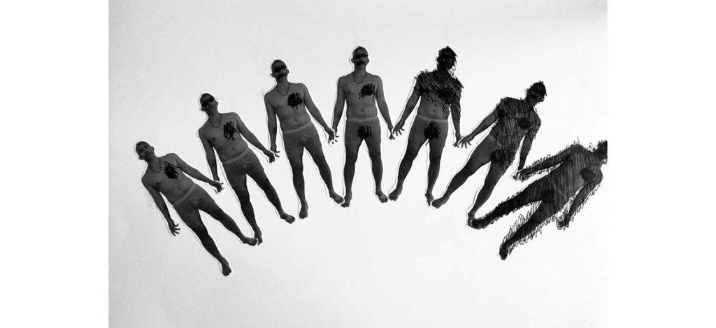 Jhafis Quintero, Sin título, 2019. Encre et crayon sur papier, 33 x 48,5 cm
