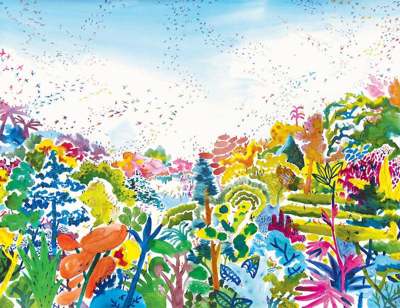 Collectif Ensaders, La canopée aquarelle et crayon sur papier, 50 x 65 cm, 2020
