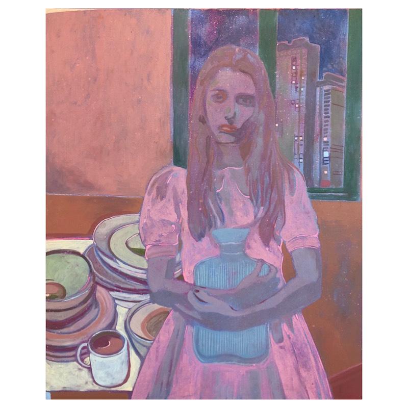 Marcella Barceló, sick sick sick again- 2019, acrylique sur toile,100x87cm ©Marcella Barceló