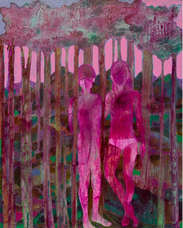 Marcella Barceló, the dawn- 2020, acrylique sur toile, 100x80 cm  Crédit photo Grégory copitet ©Marcella Barceló