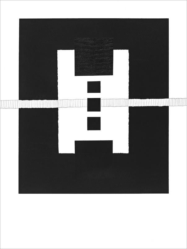 Michel Thamin Cellule C171 - dessin acrylique et graphite 3H 2019