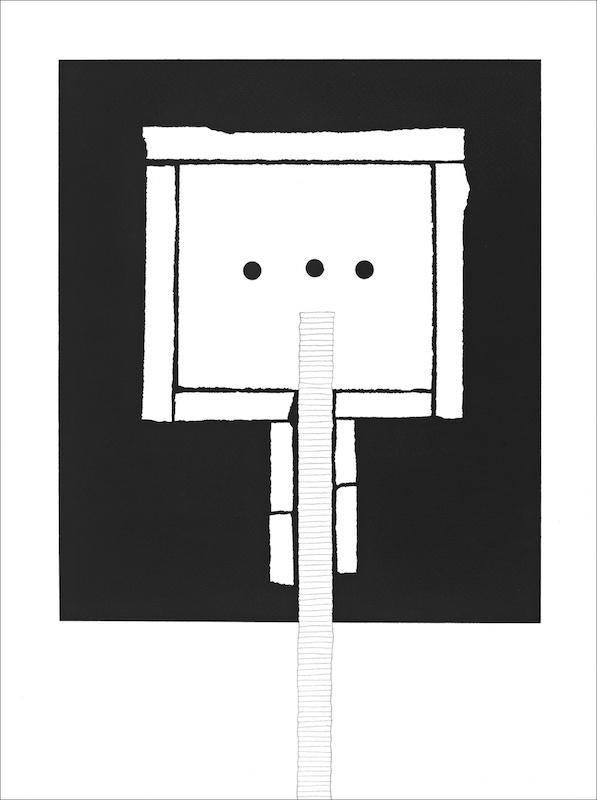 Michel Thamin Cellule C177- dessin acrylique et graphite 3H 2019.