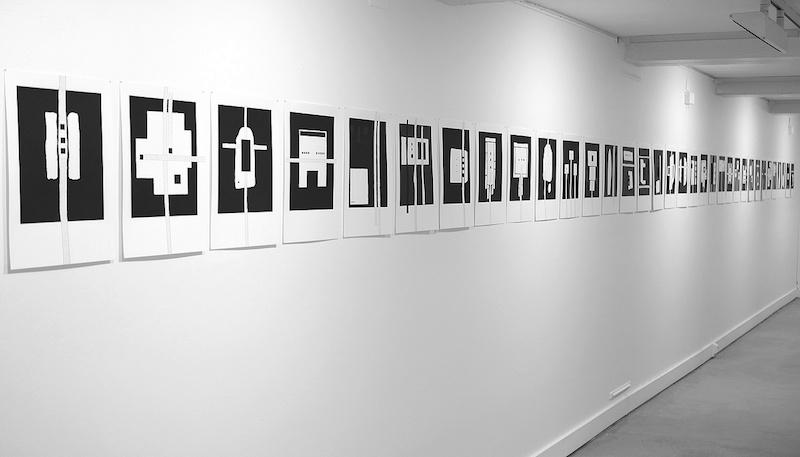 Michel Thamin Cellules - dessin acrylique et graphite 3H 2020