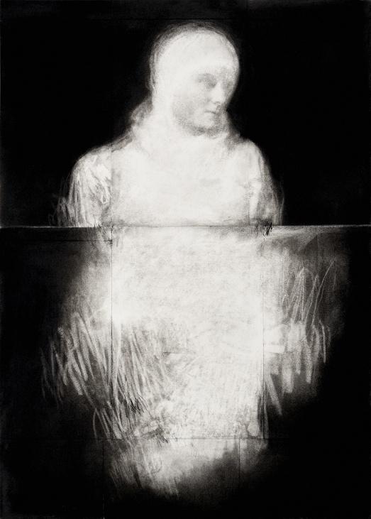 Pierrick Naud, Les limites du cavalier - sans titre 20 - Fusain sur papier -  70 x 50 cm - 2020