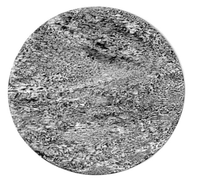 Yann Bagot, Phases #01, 2019. Acrylique et encre de chine sur aluminium, 38,5 cm