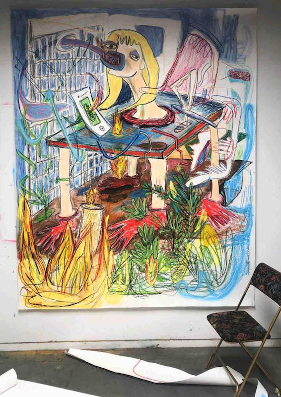 """Margaux Henry-Thieullent """"SOIF!SOIF!!!"""", dessin sur papier, 2020."""